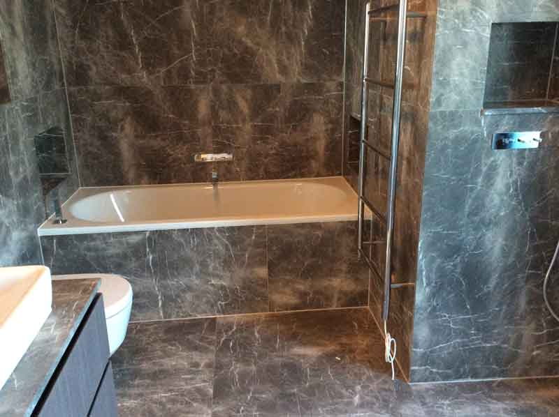 Compass House Marble Bathroom Tiling