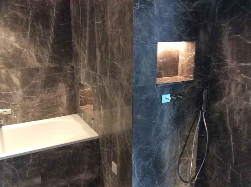Compass House Marble Bathroom Tiling
