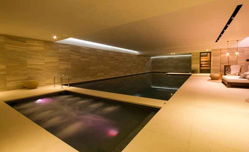 underground pool and Gym