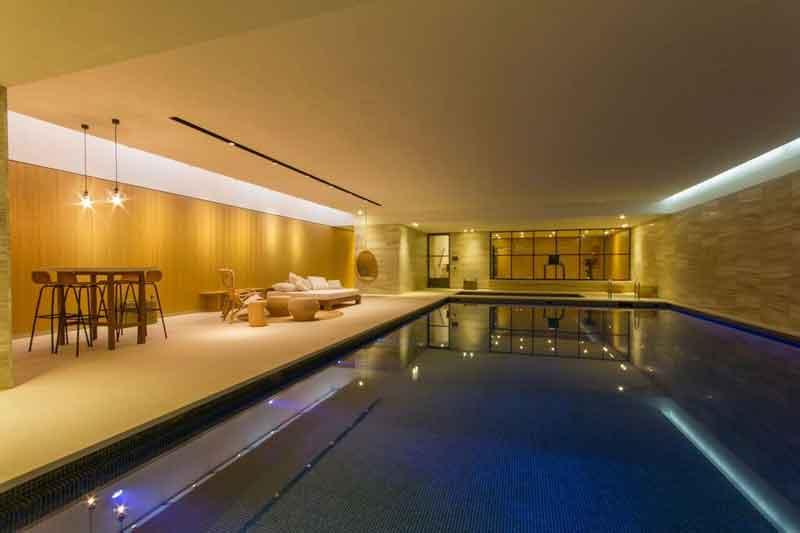underground pool and Gym