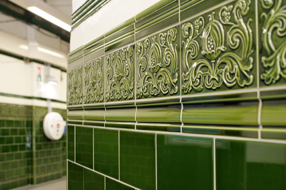 chalk farm green tile