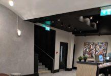city athletic gym porcelain & marble effect tiling
